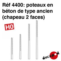 Poteaux béton ancien (chapeau 2 faces) HO Decapod 4400 - Maketis
