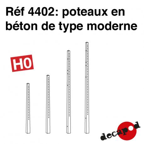 Poteaux béton modernes HO Decapod 4402 - Maketis