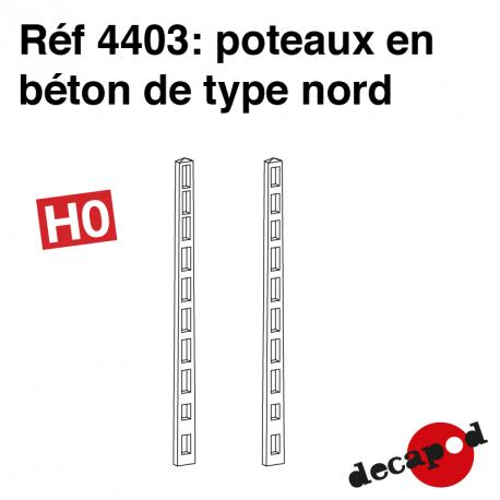 Poteaux béton Nord HO Decapod 4403 - Maketis