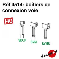 Boîtiers de connexion voie HO Decapod 4514 - Maketis
