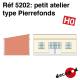 Small Pierrefonds type workshop H0 Decapod 5202 - Maketis