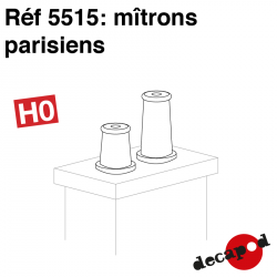Mitrons parisiens (8 pcs) HO Decapod 5515 - Maketis