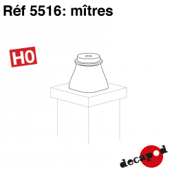 Luftschacht (8 St) H0 Decapod 5516