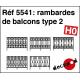 Rambardes de balcons type 2 HO Decapod 5541 - Maketis