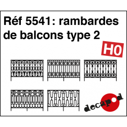 Balcony railings type 2 H0 Decapod 5541
