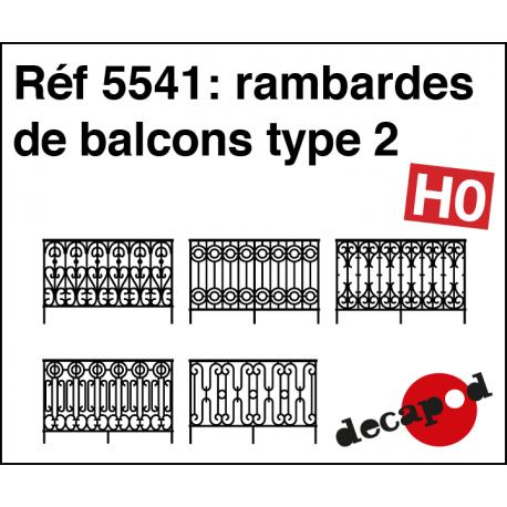 Balcony railings type 2 H0 Decapod 5541 - Maketis