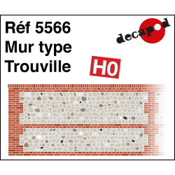 Normannische Wand Typ Trouville H0 Decapod 5566