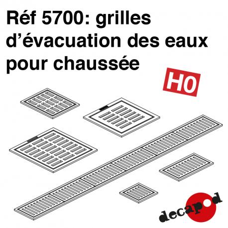Grilles d'évacuation des eaux pour chaussée HO Decapod 5700 - Maketis