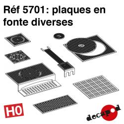 Verschiedene Gusseisenplatten H0 Decapod 5701 - Maketis
