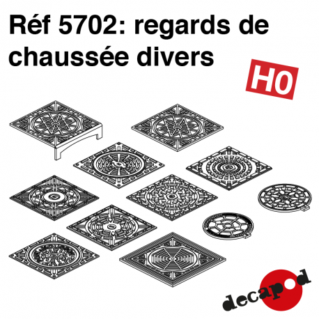 Regards de chaussée divers (23 pcs) HO Decapod 5702 - Maketis