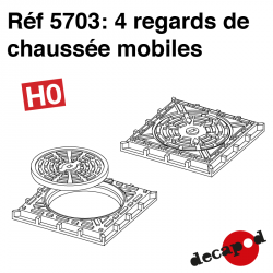 4 mobile manholes H0 Decapod 5703 - Maketis