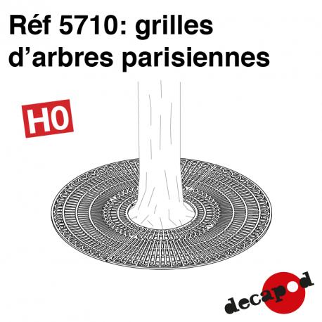 Grilles d'arbre parisiennes (16 pcs) HO Decapod 5710 - Maketis