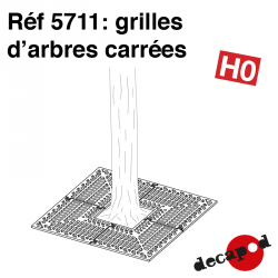 Quadratische Baumroste (12 St) H0 Decapod 5711
