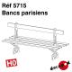 Bancs parisiens (4 pcs) HO Decapod 5715 - Maketis