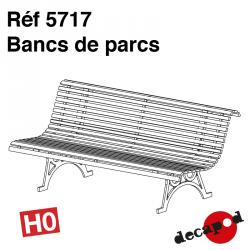 Bancs de parc (4 pcs) HO Decapod 5717