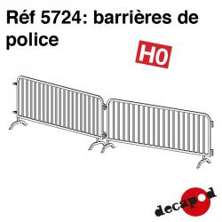 Polizei Schranken (6 St) H0 Decapod 5724 - Maketis