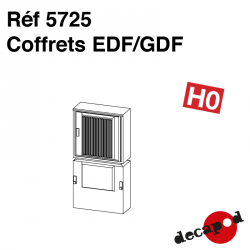 EDF/GDF-Gehäuse (3 St) H0 Decapod 5725 - Maketis