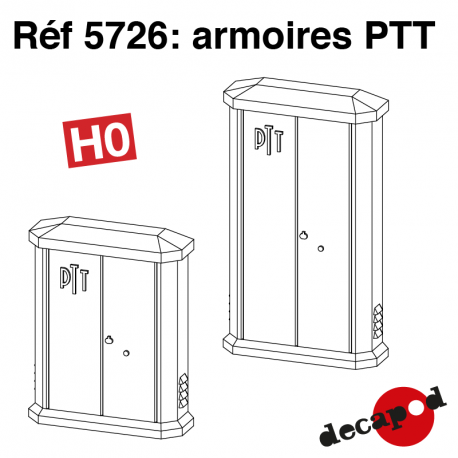 Armoires PTT (2 pcs) HO Decapod 5726 - Maketis