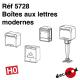Boites à lettre modernes HO Decapod 5728 - Maketis