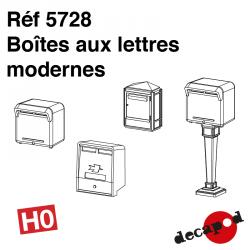 Moderne Briefkästen H0 Decapod 5728 - Maketis
