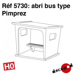 Bus or platform shelters type Pimprez H0 Decapod 5730 - Maketis