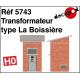 Transformateur type La Boissière HO Decapod 5743 - Maketis