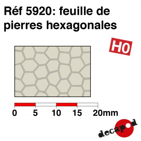 Feuilles de pierres hexagonales HO Decapod 5920 - Maketis
