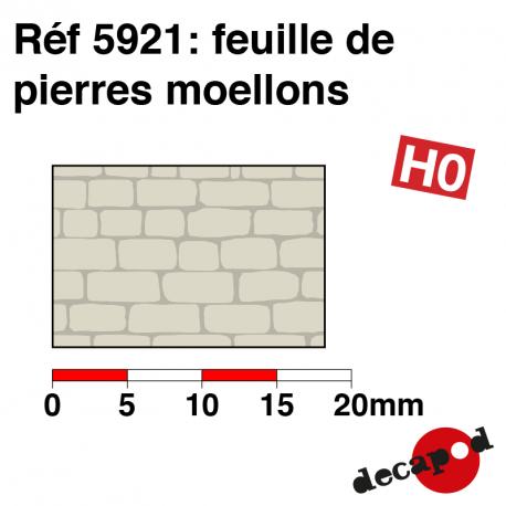 Feuille de pierres moellons HO Decapod 5921 - Maketis