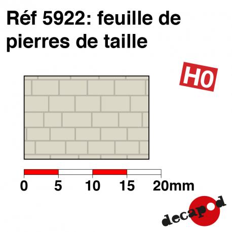 Feuille de pierres de taille HO Decapod 5922 - Maketis
