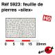 Feuille de pierres silex HO Decapod 5923 - Maketis