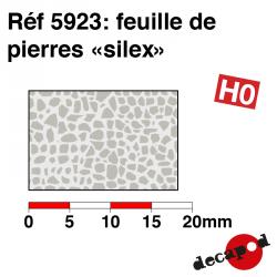Feuille de pierres silex HO Decapod 5923