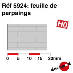 Feuille de parpaings HO Decapod 5924