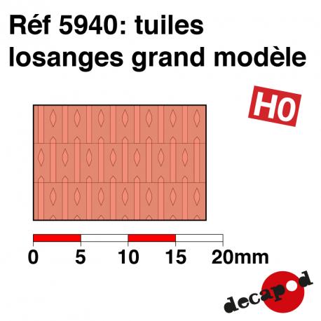Plaque de tuiles losanges grand modèle HO Decapod 5940 - Maketis