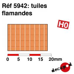 Plaque de tuiles flamandes HO Decapod 5942