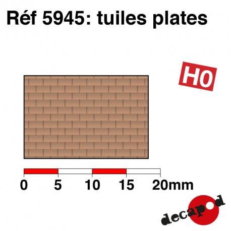 Plaque de tuiles plates HO Decapod 5945 - Maketis
