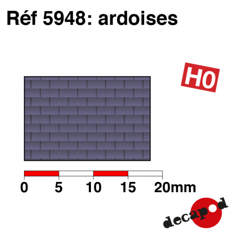 Schieferplatte H0 Decapod 5948 - Maketis