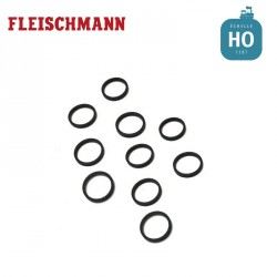 10pc.set traction wheels 9,9 mm HO Fleischmann 648006
