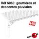 Dachrinnen und Fallrohre H0 Decapod 5960 - Maketis