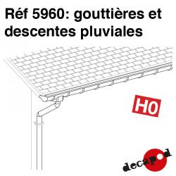 Dachrinnen und Fallrohre H0 Decapod 5960