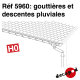 Gouttières et descentes pluviales HO Decapod 5960 - Maketis