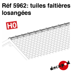 Rautenförmige Firstziegel H0 Decapod 5962