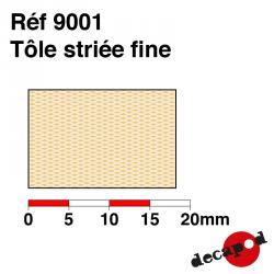 Tôle striée fine Decapod 9001 - Maketis
