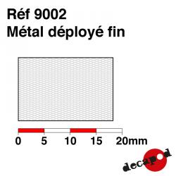 Métal déployé fin Decapod 9002 - Maketis