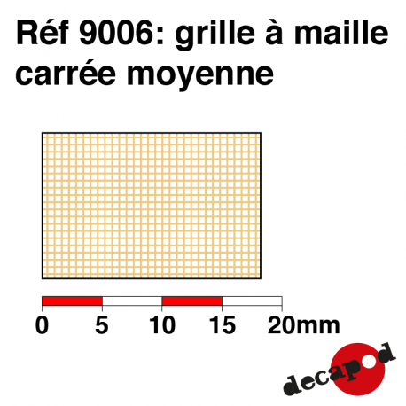 Mittleres Quadratmaschengitter Decapod 9006 - Maketis