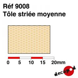 Medium ribbed sheet metal Decapod 9008 - Maketis