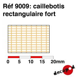 Strong rectangular grating Decapod 9009 - Maketis