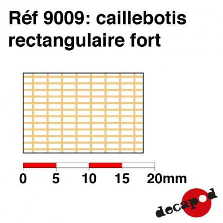 Caillebotis rectangulaire fort Decapod 9009 - Maketis