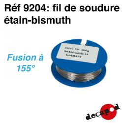 Fil de soudure étain-bismuth (100 g) (fil de 6/10è) Decapod 9204 - Maketis