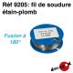 Fil de soudure étain-plomb (100 g) (fil de 5/10è) Decapod 9205 - Maketis