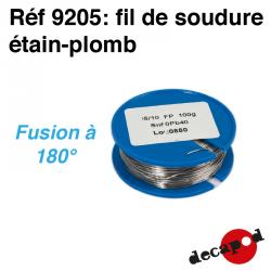 Tin-lead solder wire (100 g) (5/10th wire) Decapod 9205 - Maketis